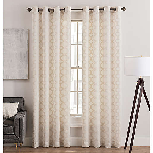 Rankin Grommet Top Sheer Window Curtain, Tuesday Morning Curtains And Rods