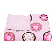 image of Donna Donuts Printed Microplush Throw from Thro by Marlo Lorenz in Pink