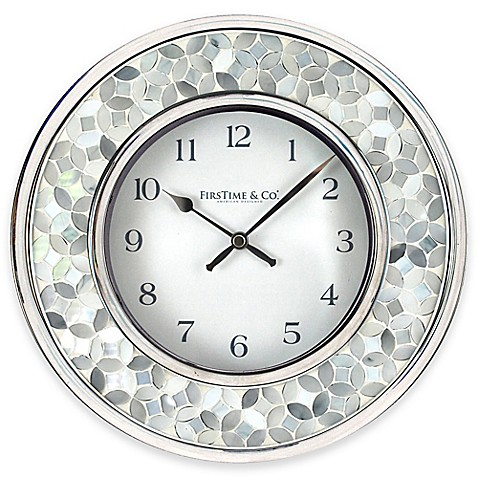 image of firstime arabesque mosaic wall clock