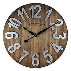 image of FirsTime® Slat Wall Clock in Wood