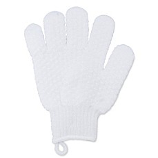 image of Exfoliating Bath Gloves in White