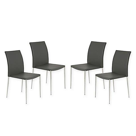 Eurostyleu0026trade; Diana Stack Chairs (Set ...
