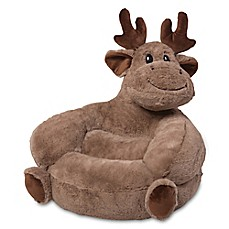 image of Trend Lab® Plush Moose Chair in Brown