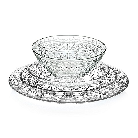 Lorren Home Trends Medici Crystal Dinnerware Collection  sc 1 st  Bed Bath u0026 Beyond : crystal dinnerware - pezcame.com