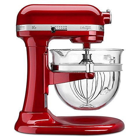 Buy Kitchenaid 6 Qt Glass Bowl Stand Mixer In Candy Apple Red From Bed Bath Beyond