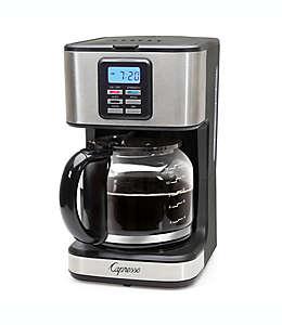 Cafetera programable Capresso® SG220, para 12-tazas en negro/acero inoxidable.