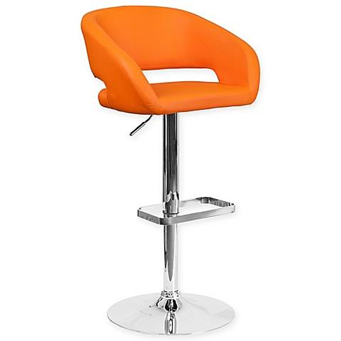 Buy Flash Furniture Contemporary Bar Stool In Orange Vinyl
