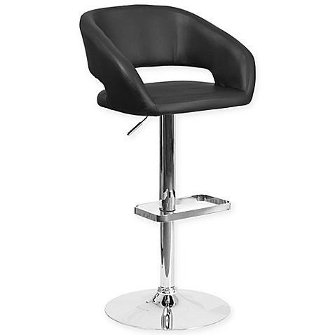 Buy Flash Furniture Contemporary Bar Stool In Black Vinyl