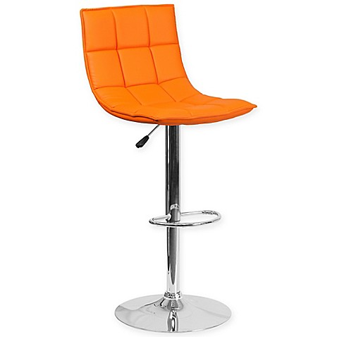 Buy Flash Furniture Quilted Height Adjustable Vinyl Bar