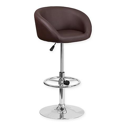 Buy Flash Furniture Vinyl Adjustable Bar Stool In Brown