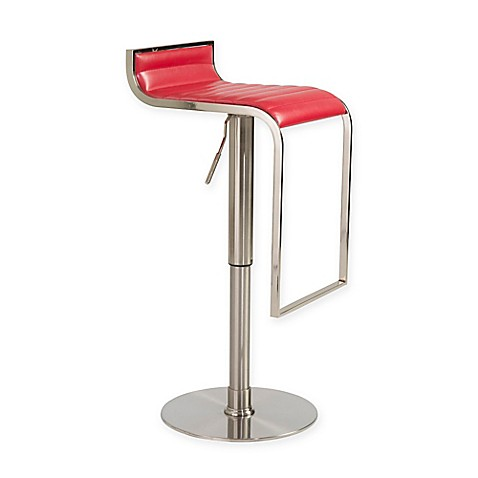 Buy Eurostyle Forest Swivel Barstool In Red Stainless