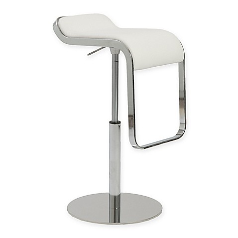 Buy Eurostyle Freddy Swivel Barstool In White Chrome From