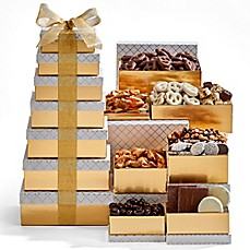 image of Hebert's Candies Gold & White 7-Tier Tower Gift Set