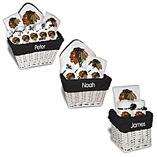 image of Designs by Chad and Jake NHL Personalized Chicago Blackhawks Gift Basket in White