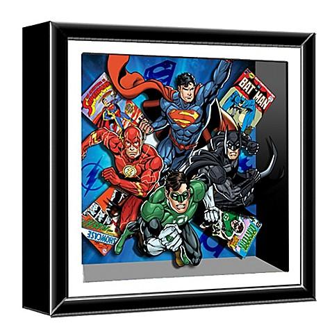 Justice League 13-Inch Shadow Box Wall Art - Bed Bath & Beyond