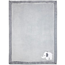 image of Wendy Bellissimo™ Mix & Match Elephant Applique Plush Blanket in Grey