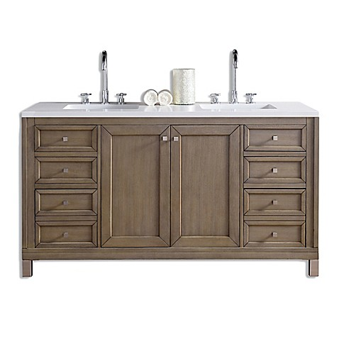 James Martin Furniture Chicago 60 Inch Double Vanity In