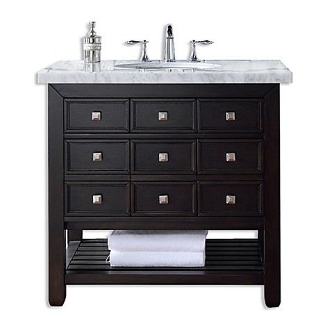 36 inch single vanity in espresso without top from bed bath beyond