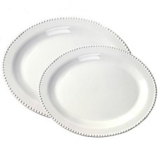 image of Tabletops Unlimited® Beaded Oval Platter