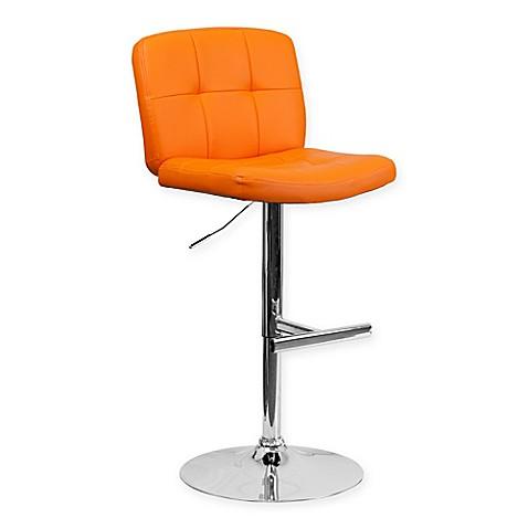 Buy Flash Furniture Adjustable Bar Stool In Orange From