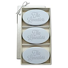 image of Carved Solutions Signature Spa Trio Oval Soap Bars (Set of 3)