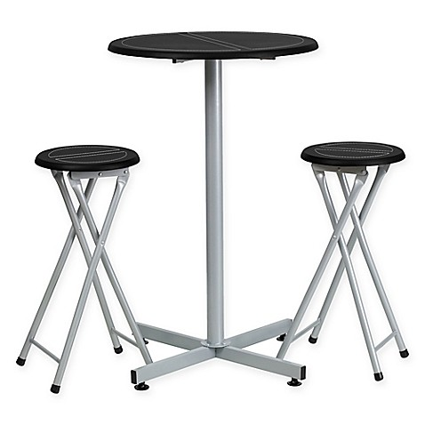flash furniture bar height table and stool set in black white bed