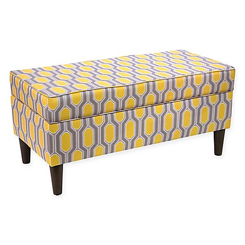 Buy Skyline Furniture Storage Bench In Yellow From Bed Bath Beyond