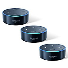 image of Amazon Echo Dot 3-Pack in Black (2nd Generation)