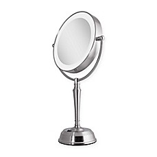image of Zadro™ Next Generation 1X/10X LED Vanity Mirror in Satin Nickel