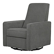 image of DaVinci Piper All-Purpose Upholstered Glider Recliner in Dark Grey