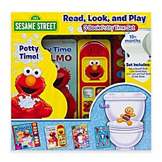 image of Sesame Street® Read, Look and Play Elmo Potty Book 3-Piece Box Set
