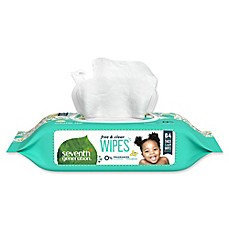 image of Seventh Generation Baby Wipes 64-Count Refill Pack