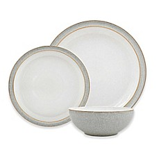 image of Denby Elements 12-Piece Dinnerware Set in Light Grey