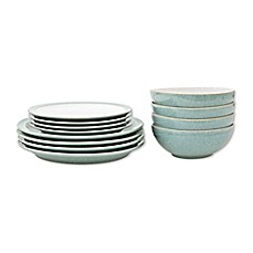 image of Denby Elements 12-Piece Dinnerware Set in Green