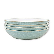 image of Denby Elements Pasta Bowls in Green (Set of 4)