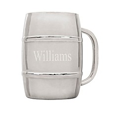 image of Cathy's Concepts 33 oz. Extra Large Stainless Steel Double-Wall Beer Keg Mug
