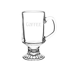 image of Cathy's Concepts 10 oz. Irish Glass Coffee Mugs (Set of 4)