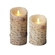 image of Luminara® Birch Flameless Pillar Candle