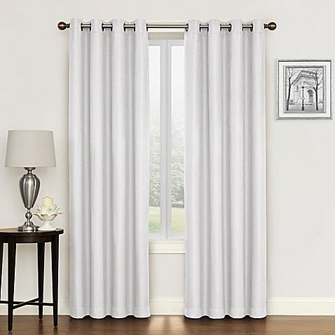 buy morrison 95 inch grommet top room darkening window curtain panel in white from bed bath beyond. Black Bedroom Furniture Sets. Home Design Ideas