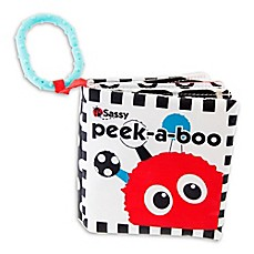 image of Sassy® Peek-A-Boo Book in Black/White