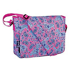 image of Wildkin Watercolor Ponies Kickstart Messenger Bag in Pink
