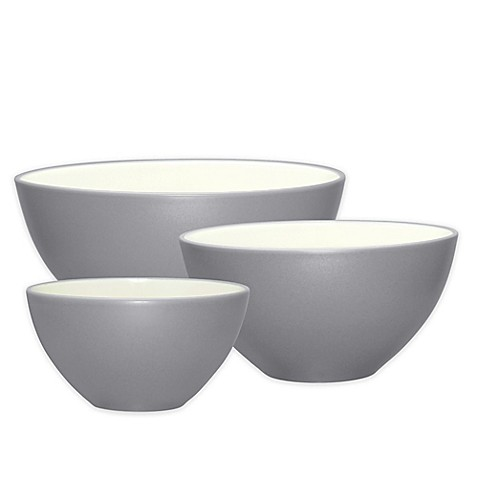 Noritake® Colorwave 3-Piece Bowl Set in Slate - Bed Bath & Beyond
