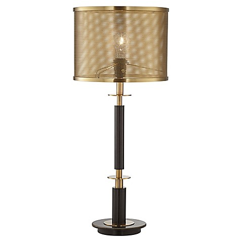 pacific coast lighting column table lamp with perforated shade in. Black Bedroom Furniture Sets. Home Design Ideas