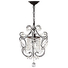 image of Safavieh Luna 1-Light Chandelier in Brown