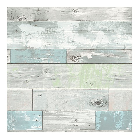 Nuwallpaper Beachwood Peel Amp Stick Wallpaper Bed Bath