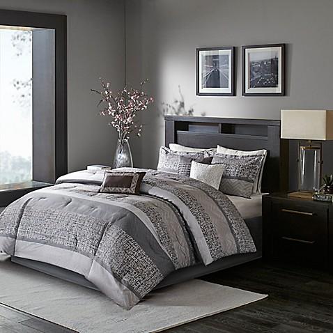 Buy madison park rhapsody 7 piece queen comforter set in 7 piece queen bedroom furniture sets