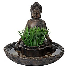 image of Bombay® Outdoor Buddha Bird Bath Planter