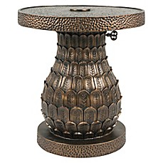 image of Bombay® Outdoor Pineapple Umbrella Table in Gold