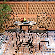 image of Bombay® Outdoor Lucienne 3-Piece Bistro Set in Brown