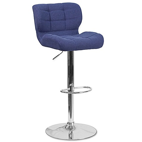 Flash Furniture Tufted Fabric Adjustable Swivel Bar Stool